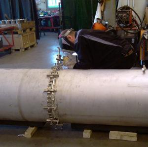 Stumpfnaht 24-Zoll Rohr Chrom Nickel Stahl